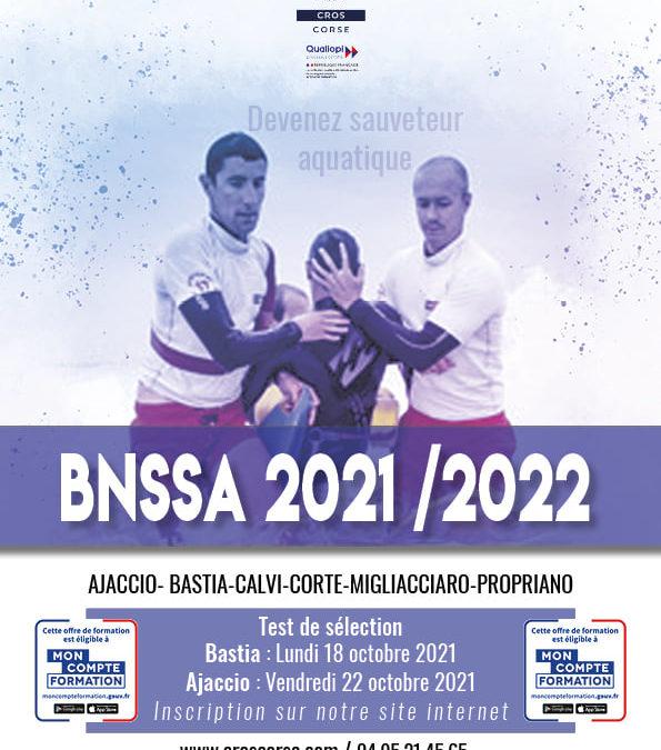 OUVERTURE INSCRIPTION BNSSA 2021-2022